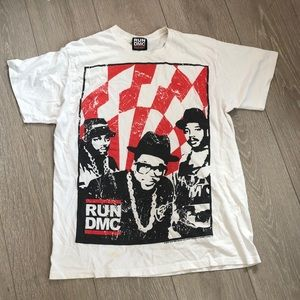 Vintage Run DMC Graphic White T-Shirt